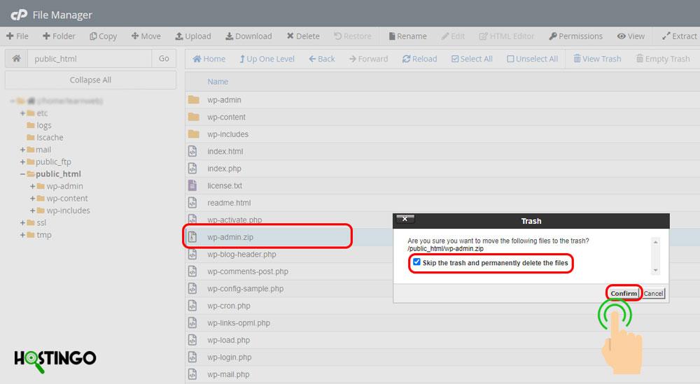 مدیریت فایل ها در سی پنل
