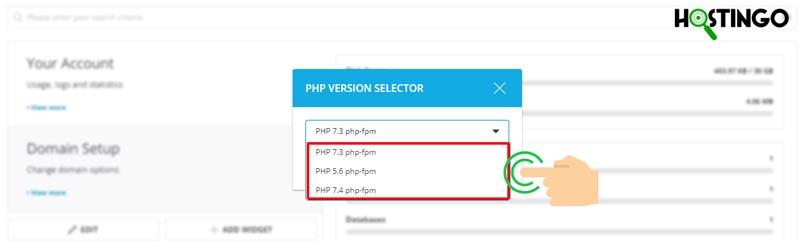 کاهش یا افزایش ورژن php در دایرکت ادمین